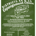 District 44 & 10 Expungement Clinic