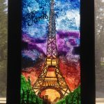 A Maryland Legal Aid client created this beautiful painting of the Eiffel Tower using only Q-tips and cotton balls.