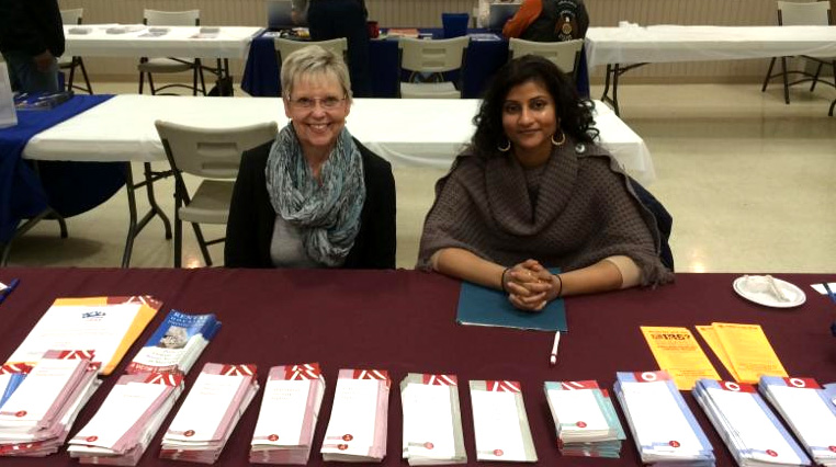 Seri Wilpone, chief attorney from the Southern Maryland office, and Swapna Yeluri, staff attorney for Maryland Legal Aid's Joining Forces Project (veterans' hotline), talked to veterans and distributed information at the Veterans Stand Down.