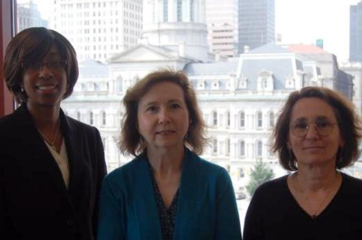 Staff Attorney Kay Harding, Senior Staff Attorney Louise Carwell and Staff Attorney Theda Saffo from the Consumer and Housing Law Unit